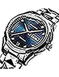 JSDUNメンズ8813ゴールドタングステンスチールツートンカラーAutomatic Watch with Diamond Shapeリンクブレスレット Silver-blue B078LX8SQM Silver-blue Silver-blue