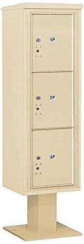 Salsbury Industries 3415s-3psan 4 C Pedestalメールボックス、砂岩 B00CLVG4DS