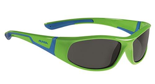 ALPINA flexxy junior lunettes de vélo pour garçon Neon Green/Blue