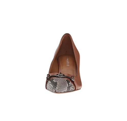 Coach Womens Lauri Pointed Toe Classic Pumps Saddle/Natural Silky Nappa/Luxe Snake i9Jn2PFD