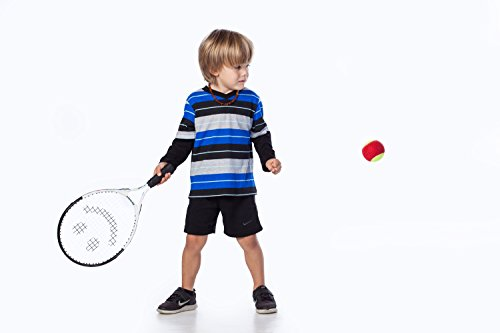 Street Tennis Club Tennis Rackets for Kids, 17-Inch, Black/Yellow