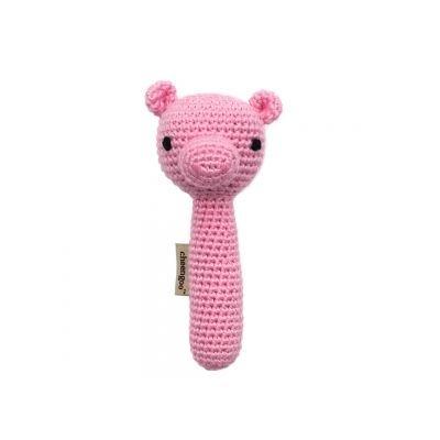 Pig Rattle - Cheengoo Organic Crocheted Pig Rattle