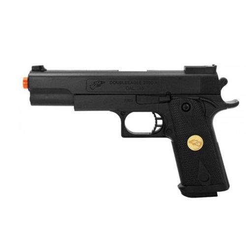 Double Eagle P169 Spring Pistol 220-Fps Airsoft Gun, Black
