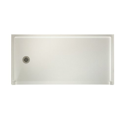 Swanstone FBF-3060L-018  Shower Base with Left Drain, Bisque (Pans Swanstone Shower)