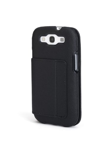 Portafolio Duo - Kensington K39612WW Portafolio Duo Wallet Case and Stand for Samsung Galaxy S III - 1 Pack - Carrying Case - Retail Packaging - Black Crosshatch