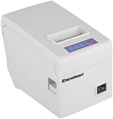 Excelvan E58 - Impresora térmica de recibos y tickets (58 mm, 130 mm/sec, USB), blanco