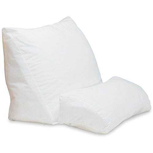 Contour Products 10 in 1 Flip Pillow Cover, White by Contour Products (Reading Wedge Pillow Cover)