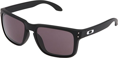 Oakley Holbrook Sunglasses, Matte Black Frame/Warm Grey Lens, One - Black Oakley Matte