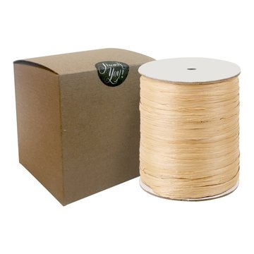 Natural Paper Raffia Ribbon Natural Light Brown Kraft - Kraft Raffia