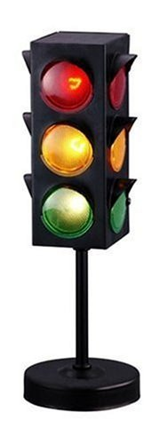 (Kicko Traffic Light Lamp with Base - 8 inches Cool and Fun Bright Lights - Flashing Red, Yellow, Green Stoplight Lamp 1 pc. - Great for Kids Themed Parties, Perfect Party Decorations, Birthdays)