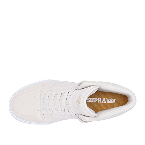 Supra Mens Vaider De Chaussure De Patin Blanc Blanc