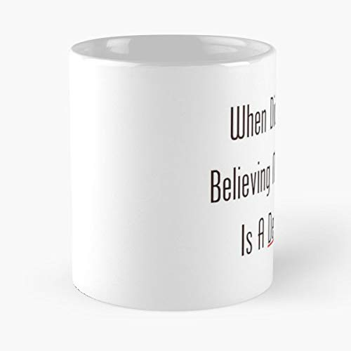 When Did You Start Believing My Classroom Is A Democracy Classic Mug - The Funny Coffee Mugs For Halloween, Holiday, Christmas Party Decoration 11 Ounce