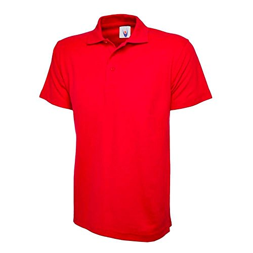 Uneek UC105 rot – XL Rot Polo Shirt