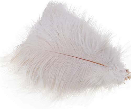 Kaputar Set of 50, 15-20cm Real Natural White Ostrich Feathers Decorations Feather | Model WDDNG -177 | 50 Pcs