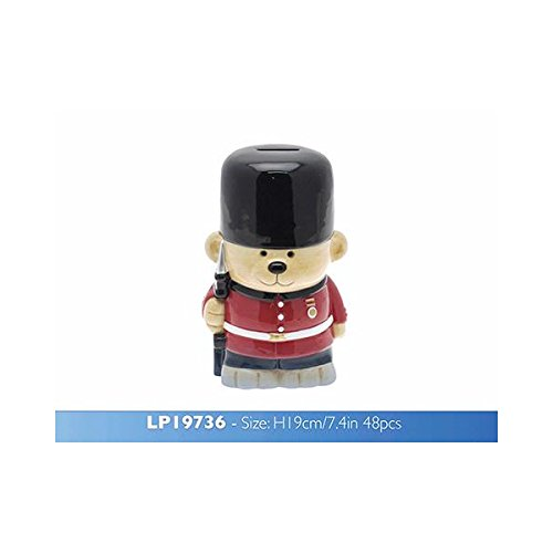 London Guardsman Teddy Money Box- Complete with Union Jack gift box!