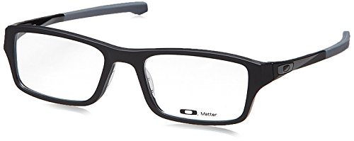Oakley Chamfer OX8039-0153 Eyeglasses Satin Black Clear Demo 53 18