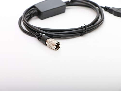 Male 6pin HirosePlug to USB Data Cable for PENTAX R-202NE,R-322N,R-422 Total Stations Qianyu
