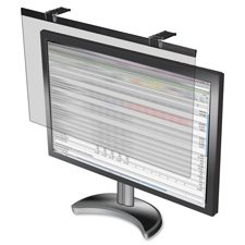 LCD Privacy Filter, Antiglare, Widescrn 24'', Black, Sold as 2 Each