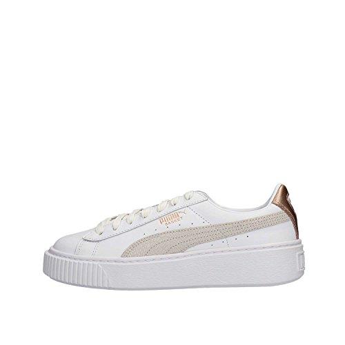Puma Schoenen Vrouw Lage Sneakers 366814 02 Basket Platform Euphoria Wit