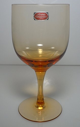 Noritake Viewpoint Amber Water Goblet -