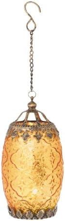 Midwest Gloves 7 25 Amber Orange Chic Bohemian Glass Tea Light Candle Holder Lantern Home Kitchen