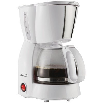 Brentwood Appliances TS-213W 4 Cup Coffee Maker, White by Br