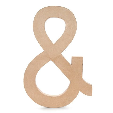 Better Crafts PAPER MACHE AMPERSAND 23.5IN (1 pack) (02860-AMP0)