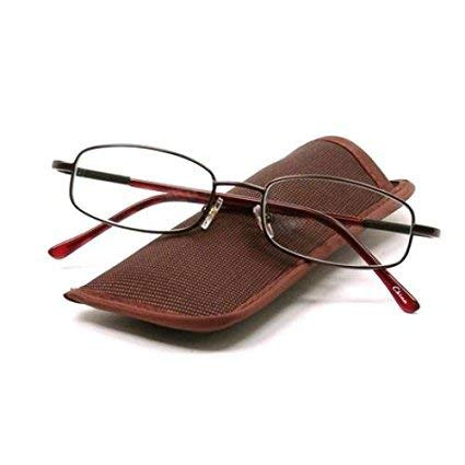 FGX Nash Men's Brown Reading Glasses with Case +1.50