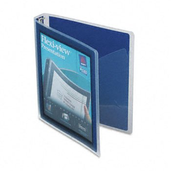 Avery® Flexi-View Round Ring View Binder BNDR,FLEXI-VIEW 1