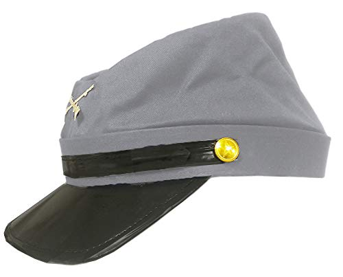 100% Wool Men's Civil War Replica Kepi Hat S/M Grey -  Jacobson Hat Company