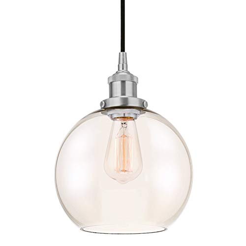 Circular Glass Pendant Light in US - 9