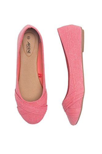 Pleated Pleated Ardene Women's Flats Women's Ardene Pink Flats Pleated Ardene Pink Women's Flats TqvOaF