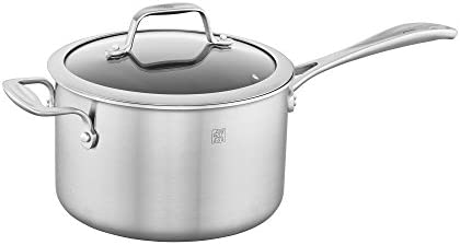 ZWILLING Spirit 3-ply 4-qt Stainless Steel Ceramic Nonstick Saucepan