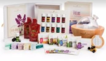 Young Living Premium Starter kit with Dewdrop Home Rainstone Aria Diffuser Essential Oils Collection NingXia Red 11 5ml Oils (Aria Diffuser) by Young Living