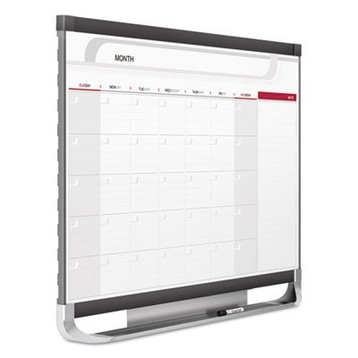 Prestige 2 Total Erase Monthly Calendar, 36 x 24, Graphite Color Frame, Sold as 1 Each
