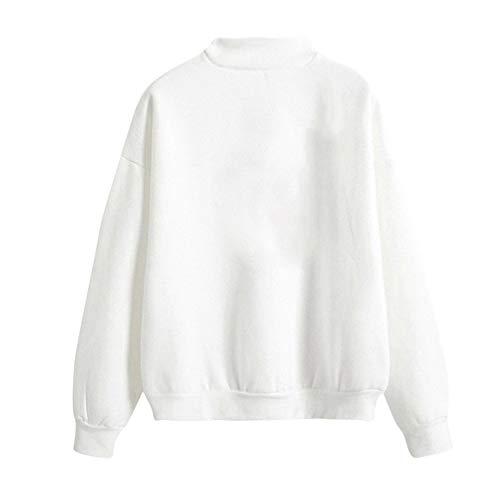 Tops Santa Caliente Sylar Cortas B Pullover Larga Redondo Suelto Moda  Estampado Cuello Outwear Lindo Jersey Claus Mujer Manga ... 9b07fae55ae3
