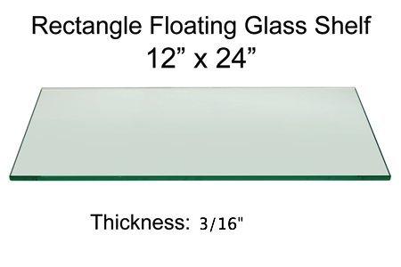 Awesome 12 X 24 Tempered Glass Shelf 3 16 Thick Amazon Com Home Interior And Landscaping Ferensignezvosmurscom