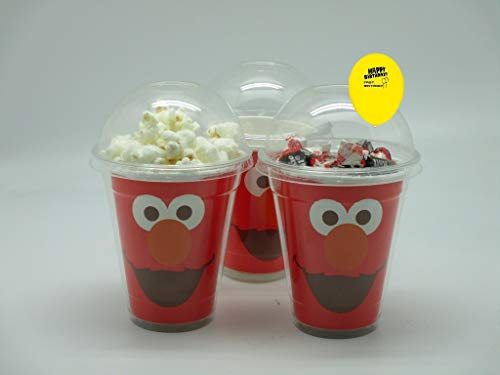 Set of 8 - Elmo Party Cups, Popcorn Cups, Goody Bags, Favor Boxes