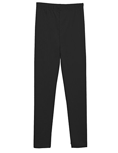 Arshiner Little Girls Solid Color Leggings Tights, Black, 150 (Age14-15Y) (Tween Leggings)