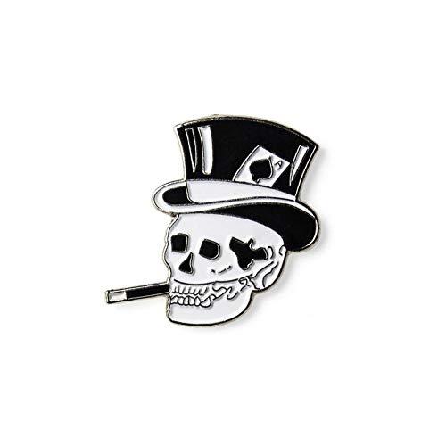 Minimum Mouse Top Hat Skull Enamel Lapel Pin Badge