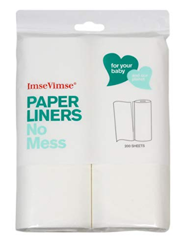 2b9a84349 Imse Vimse Biodegradable Paper Liners for Baby Cloth Diapers