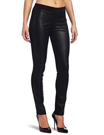 Kenneth Cole New York Women's Pleather-Ponte Legging, Black, Small