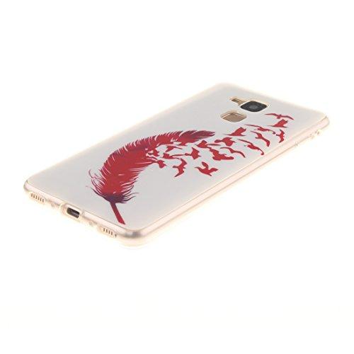 7 En lite Couverture Cas Souple Arrière Motif Protection Huawei Résistant Slim Honor Fit Feather Silicone De 5C TPU Hozor Bord Scratch Peint Antichoc Transparent Téléphone Honor Cas De XwAPIxqOq