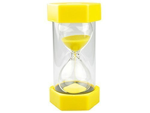 3 Minute Sand timer-Yellow-Size 16 cm