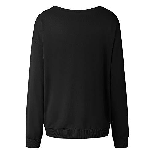 RETUROM-Sudaderas Sudaderas para Mujer, Capucha Estampadas Chica Jerseys Sudadera Deportivas Camisetas de Manga Larga Cuello Alto Dama Pullover Bonitas ...