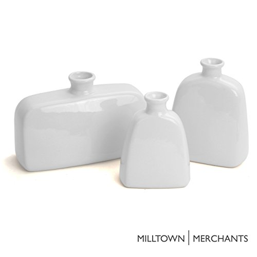 Milltown Merchants™ Ceramic Vase Set - Set of 3 Ceramic Wh