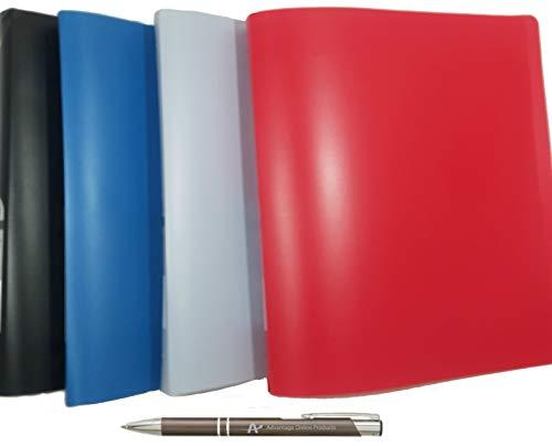 Wilson Jones ACCOHIDE - Carpeta de anillas redondas, 19 unidades, capacidad de 2,5 cm, 4 unidades, colores surtidos, 40510D,...