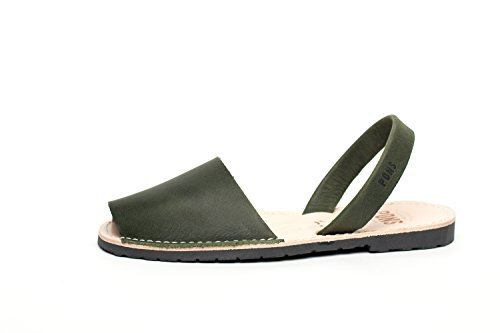 - Pons 510 - Avarca Classic Style Women - Forest Green - 39 (US 9)