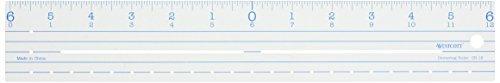(Plastic Ruler 12-Zero Centering by Acme)
