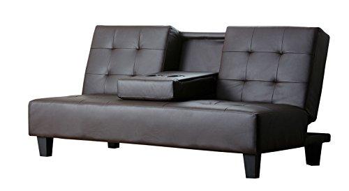 Abbyson® Bedford Convertible (Brown Convertible Sofa)